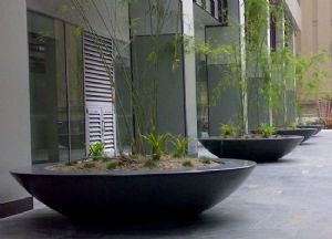 Large Fibreglass Bowl Planters from potstore.co.uk